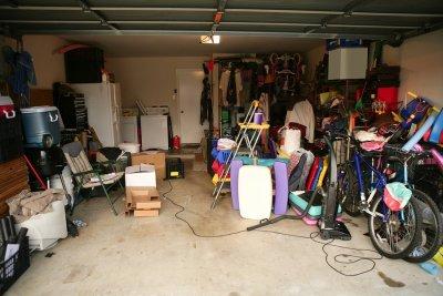 cluttered - garage
